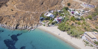 Levrossos Beach Apartments from above