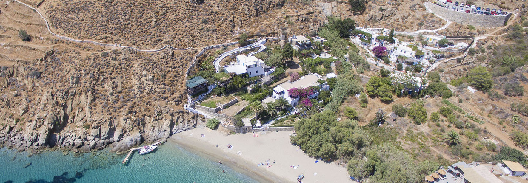 Location Levrossos Beach Apartments on Amorgos